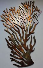 "Coral Branch Ex Large Fan Metal Wall Art Decor 24"" tall"