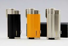 COHIBA Windproof  Torch Jet Refillable Blue triple Flame cigar cigartte lighter