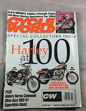 Collectors Issue Harley at 100 Oct 2003 Cycle World   Motorcycle Vintage Magzine