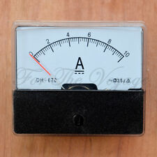 0- 10A DC Ammeter Amp Current Panel Meter Analogue Analog with Internal Shunt
