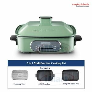 Morphy Richards 3-in-1 Multifunction Cooking Pot Green