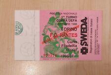 70126 Biglietto stadio - Torino Nantes F.C - Coppa UEFA 1986/87 Curva Filadelfia