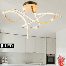 LED Decken Lampe Wohn-Zimmer KRISTALL Effekt Folien Lüster Leuchte GOLD-Farben