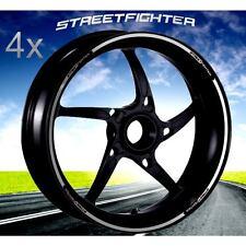SET PROFILI CERCHIO 17 ADESIVI WHEEL DUCATI STREETFIGHTER S 848 RUOTE ARGENTO
