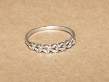 Vintage Petite Sterling Silver Open Heart Band Ring for Finger or Toe sz 7