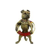 Menso con salvavidas-bronce de Viena-perros personaje-hanbemalt & con sello