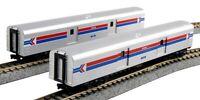 Kato 1063512 N Scale Smooth Baggage Car Amtrak C (2) #1075 #1076