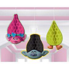 Trolls Honeycomb Hanging Decorations (Pack of 3) - 291828