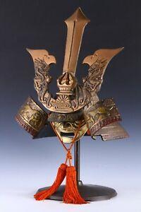 Massive Great Vintage Japanese Samurai Helmet -Kusunoki Masashige-Tsushima