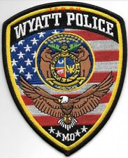 "Wyatt, MO (4"" x 5"" size) shoulder police patch (fire)"