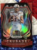PATRICK MAHOMES II (RED PRIZM CRUSADE) 2020 PANINI PRIZM DRAFT PICKS #80