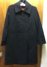 Cole Haan Women Grey Wool Cashmere Double Breasted Overcoat USA Size 8/Medium