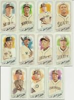 SEATTLE MARINERS 2018 Topps Allen & Ginter MINI Parallel TEAM SET w/ SPs (11)