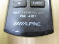 ALPINE AUDIO UNIT REMOTE CONTROL # RUE4187 ALPINE REMOTE      RUE 4187