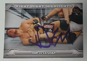 Frank Mir Signed UFC 2014 Topps Champions Fight Night Highlights Card 81 Auto'd