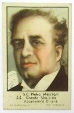 Figurina Anni 1930 S.E. Pietro Mascagni Marca Gallo Cartonata cm 7 x 4,5