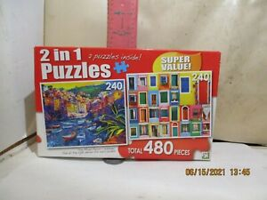 LPF PUZZLES - 2 X 240 PIECE PUZZLES  - NEW IN SEALED BOX