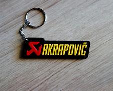 AKRAPOVIC Keyring Keychain Rubber Motorcycle Racing Bike Collectible Gift New