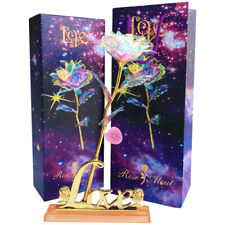 Enchanted Flower LED Light Up Galaxy Love Rose for Birthday Valentine's Day Gift