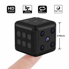 1080P Dice Mini Hidden Camera Microphone Spy Hide Keychain Cam Security SQ16