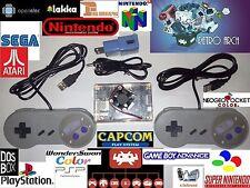 Retro Gaming Console System Similar Raspberry PI Arcade SNES N64 PSX GBA NES PSP