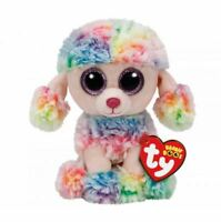 OFFICIAL TY BEANIE BABIES BOOS RAINBOW POODLE PLUSH SOFT TOY NEW WITH TAGS