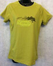 Adidas V38125 Mujer W Ht Belleza Ss Camiseta Top Brand New Size UK 16 Verde #4947