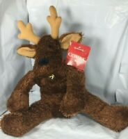 NWT Hallmark Rodney Reindeer Comet Plush Sparkle Christmas Decor Stuffed Toy