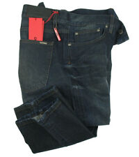 BOSS Hugo Jeans 036 IN W33/L34 (regular fit) blu scuro dirty wash