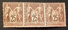 timbre france, n°97, Type sage 25c noir/rose, Neuf **, cote 540e très. Frais