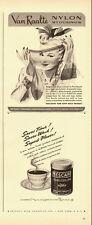 1942 WW2 Era ADS, Van Raalte Nylon Stockings, Nescafe Instant Coffee -050114
