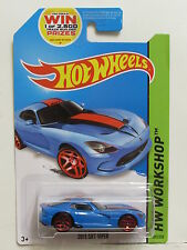 HOT WHEELS 2014 HW WORKSHOP - HW GARAGE 2013 SRT VIPER BLUE