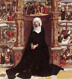 Dream-art Oil painting Madonna - Our Lady of the Seven Sorrows free shipping art