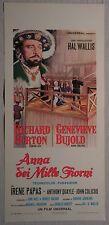 Locandina ANNA DEI MILLE GIORNI 1°ED.ITAL.1970 RICHARD BURTON, IRENE PAPAS