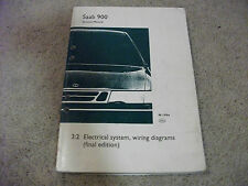 1994 SAAB 900 Electrical System, Wiring (Final Edition) Diagrams Manual