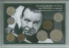 Joe Davis Snooker Billar campeón del mundo 147 romper Vintage Moneda Conjunto de Regalo 1955