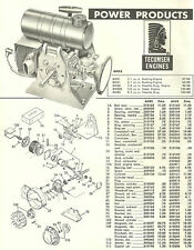 Vintage 1960's Power Products Ah58 Parts & Price List