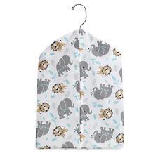 Bedtime Originals Jungle Fun Gray/Blue Elephant and Lion Diaper Stacker