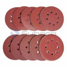 100pcs 8 Hole 125mm Sanding Discs 40 60 80 120 240 Grit Orbital Sander Pads