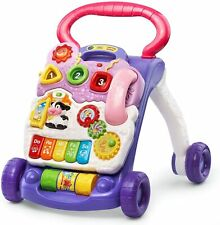 Baby Walker Lavender Removable Play Panel Sit Stand Light Up Piano Keys Learning