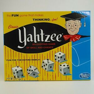 Classic Yahtzee Game Hasbro 1167 Replacement Storage Game Box And Tray Empty Box