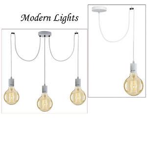 Vintage Pendant PVC E27 Ceiling Industrial Chandelier Light Retro DIY Lamp