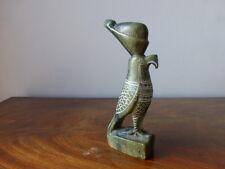 Statuette sculptée du Dieu Faucon HORUS Egypte. God falcon Horus