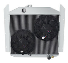 """3 Row Cold Champion Radiator W/ 2 10"""" Fans for 1949 50 51 1952 Studebaker Pickup"""