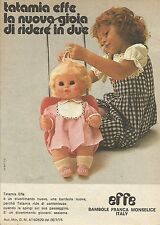 X9725 Bambole EFFE - Tatamia - Pubblicità 1975 - Advertising