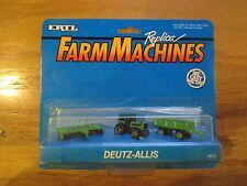 ERTL 4015 Farm Machines DEUTZ-Allis tractor disc wagon set w Free ship!