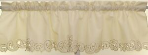 Litchfield Curtain Scrolling Cutwork Flowers and Leaves ALL SIZES AVAILABLE