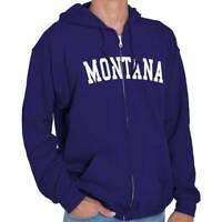 Montana Athletic Vacation State Pride Gift Zipper Sweat Shirt Zip Sweatshirt