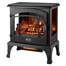 Vintage Style Electric Thermostat Stove Infrared Quartz Space Heater Fireplace