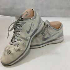 Nike Free 5.0 TR Fit 5 White Silver Running Sneaker Shoes Size 7.5 Light